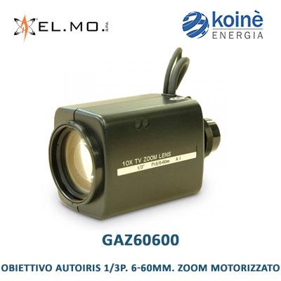 elmo GAZ60600 obiettivo