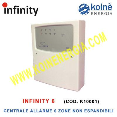 centrale allarme infinity6 k10001