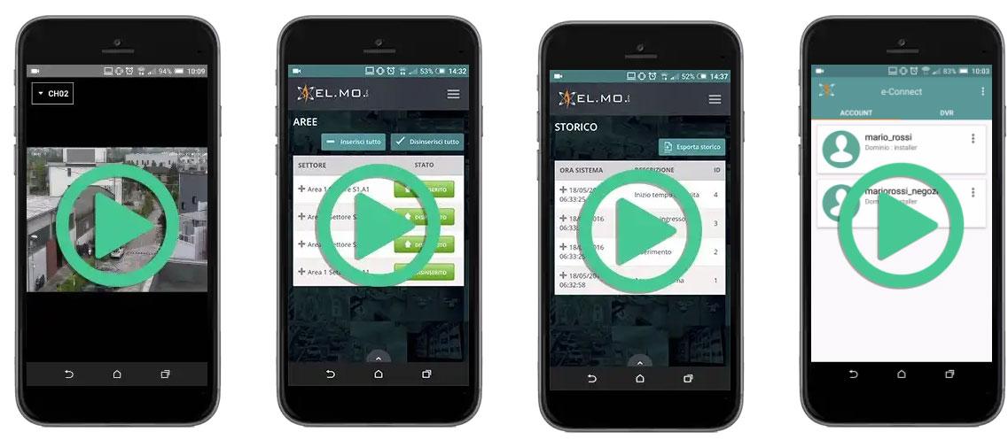 Le fuonzioni della App e-connect
