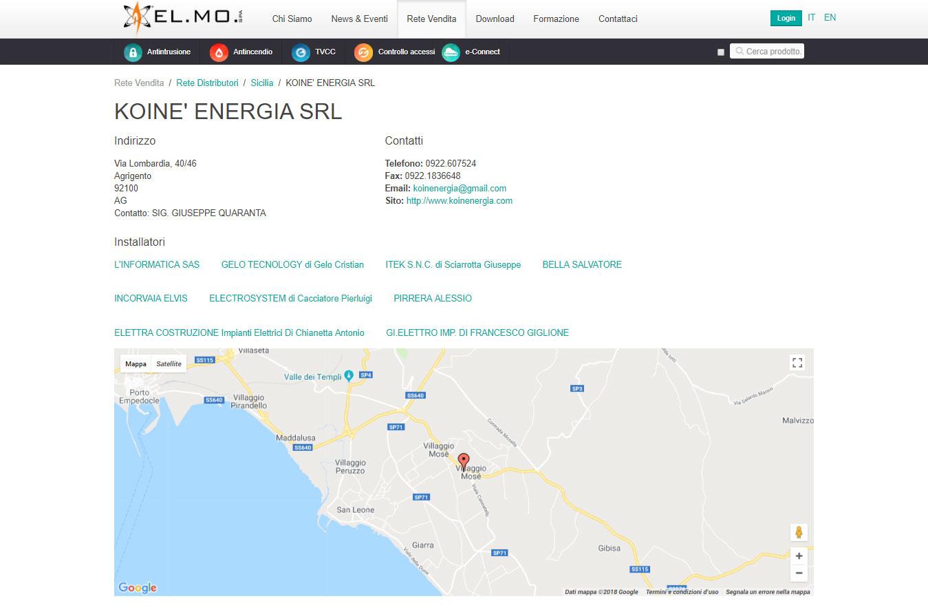 Koinè Energia srl è distributore ufficiale della EL.MO. spa per la provincia di Agrigento