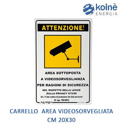 CARTELLO-ATTENZIONE-AREA VIDEOSORVEGLIATA