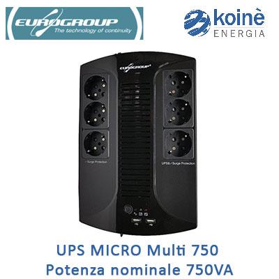 UPS MICRO Multi 750 Potenza nominale 750VA