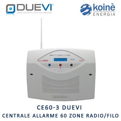 CE60-3 duevi centrale allarme