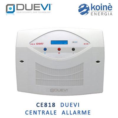 CE818 duevi centrale allarme