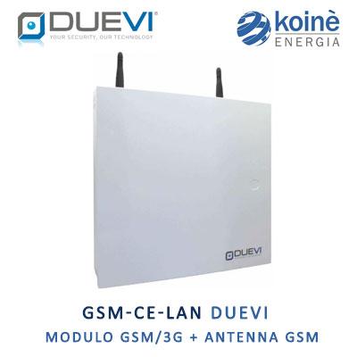 GSM CE LAN DUEVI centrale allarme