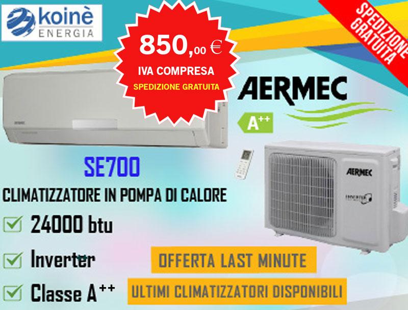 aermec 24000 btu se700 climatizzatore