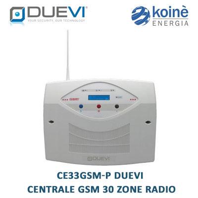 duevi centrale allarme CE33GSM-P