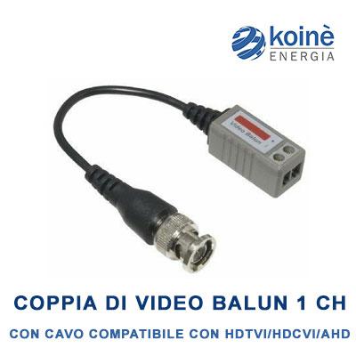 LLT-202P+ Coppia di video balun 1 Canale