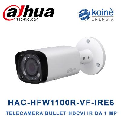 dahua HAC HFW1100R VF IRE6 telecamera bullett