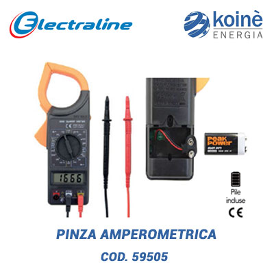 pinza amperometrica electraline