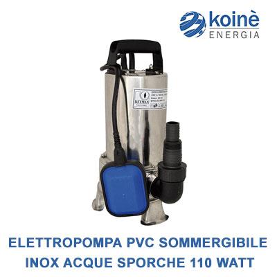 Elettropompa pvc sommergibile-acque sporche inox 1100 watt
