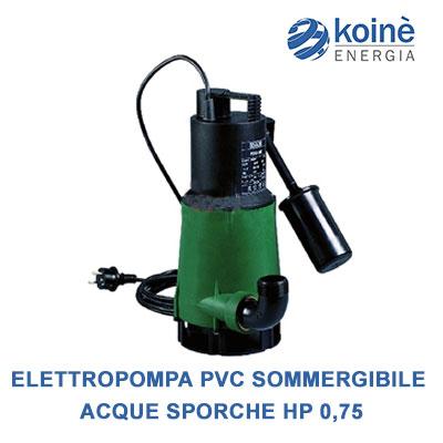 Elettropompa pvc sommergibile acque sporche