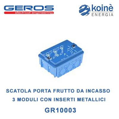 Gr10003 Geros Scatola porta frutto da incasso
