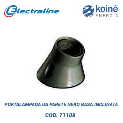 PORTALAMPADA-DA-PARETE-nero-BASA-INCLINATA-electraline