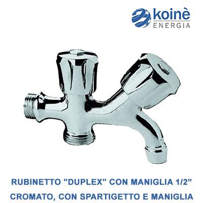 RUBINETTO duplex con maniglia 1-2