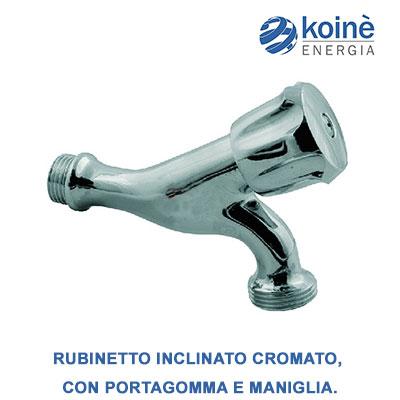 RUBINETTO INCLINATO Cromato