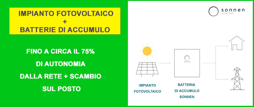 batteria di accumulo sonnen fotovoltaico