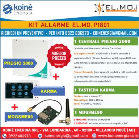 elmo kit allarme p1801