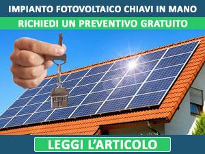 impianto fotovoltaico chiavi in mano