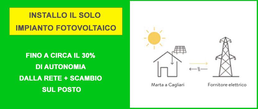 impianto fotovoltaico-senza batterie di accumulo