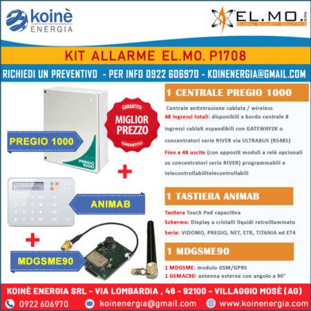 kit elmo p1708 sistemi allarme