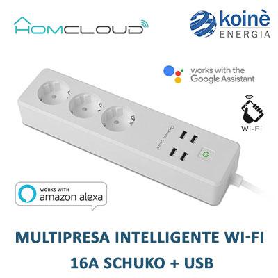 VZ EPS16A HOMCLOUD Multipresa Intelligente 16a schuko