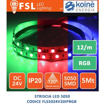 FLS5024V20IPRGB fsl striscia led
