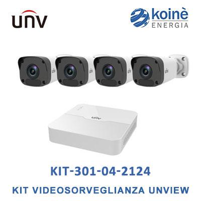 KIT-301-04-2124 kit videosorveglianza uniview