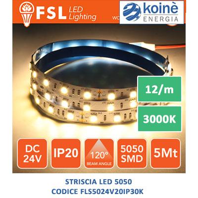 fsl striscia led fls5024v20ip30k