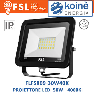 FLFS809-30W40K-proiettore-led-fsl