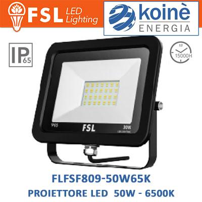 FLFSF809-50W65K fsl proiettore led