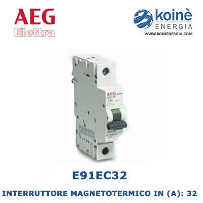 E91EC32 INTERRUTTORE MAGNETOTERMICO AEG ELETTRA